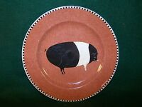 "Sakura Brandon House by Warren Kimble Barnyard Animals Salad Plate 8 1/8"" PIG"