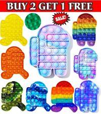 Among Us Push Pop Bubble it Fidget Sensory Toy Stress Relief Kids Toys Tiktok