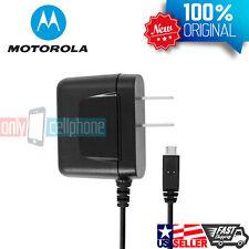 NEW Black OEM Original Motorola microUSB Home Wall Travel Charger for Moto G X E
