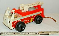FISHER PRICE FIRE ENGINE #720 WOODEN PULL TOY