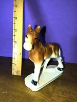 "Ceramic Porcelain Horse Statue Figurine 4 1/2"" Tall! Made In Japan"
