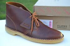 Clarks Originals BNIB Mens DESERT BOOT Tan Leather UK 10 / 44.5