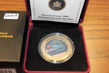 2009 50 CENT COIN-HOLIDAY TRAIN ERROR WITH THE LENTICULAR 3D COLOUR