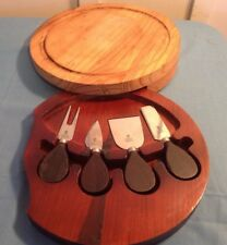PORTABLE CHEF BASIC KNIFE 4 KIT IN ROUND WOODEN CASE