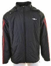 UMBRO Mens Windbreaker Jacket Size 40 Large Black  FK26