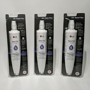 3  LG LT600P/PC/PCS Refrigerator Ice Water Filter Replacement Cartridges