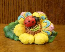 Jim Shore Heartwood Creek Mini's #6000677 LADYBUG on FLOWER, From Retail Store