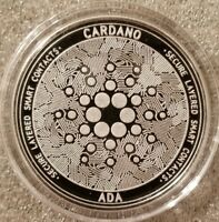 Cardano ADA 1 oz .999 silver commemorative coin crypto currency bitcoin btc eth