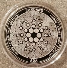 Cardano ADA 1 oz .999 silver commemorative coin crypto currency bitcoin btc eth