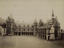 ANTIQUE ALBUMEN PHOTO CHATEAU BLOIS, FRANCE.