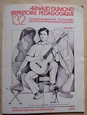 #) Arnaud Dumond répertoire pédagogique volume 1 - musiques progressives guitare