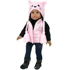 "Pink  Fleece Kitty Hat Fits 18"" American Girl Dolls"
