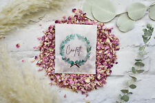 Ready Made Large Luxury Confetti Packet Bag with Biodegradable Natural Petals