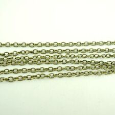 4M Vintage Style Bronze Tone Brass Unfinished Necklace Chains Findings 3.7*3mm