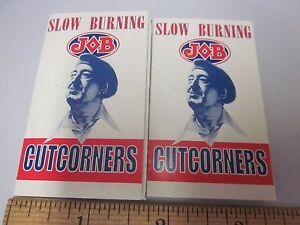 CIGARETTE Rolling PAPER Vtg Lot Made in France JOB Slow Burning Cut corners 1999