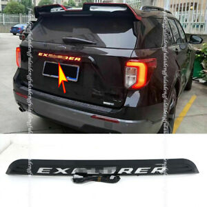 For Ford Explorer 2020-2021 Red LED Badge Rear Trunk Tailgate Trim Strip Cover