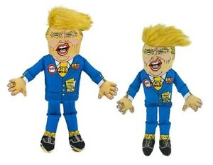 "Donald Trump Dog Chew Toys Funny Durable Canvas Squeaker Choose 12"" or 17"" Size"