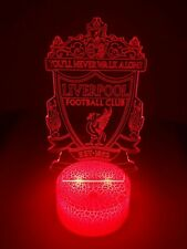 3D LED 16 Colour Changing Football Club Crackle Mood Night Light With Remote New