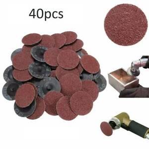 40 x 2'' 50mm 40/80/120/240 Grit Type R Roloc Sanding Discs Abrasive Roll Lock