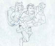 Superman Hot Cocoa 1980's commercial production cel drawing Heinz