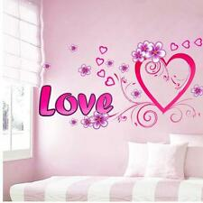Wall Sticker Pink and Purple Heart Illustrated by Love and Flowers CA