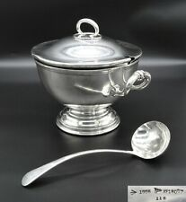 HEAVY WALKER & HALL PUNCH BOWL SOUP TUREEN ICE BUCKET TWIN HANDLE SILVER PLATED