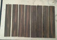 """6 Ziricote 1 1/2"""" x 3/16"""" x 8 7/8"""" Wood Lumber beautiful + 2 of 1/8"""" thick"""
