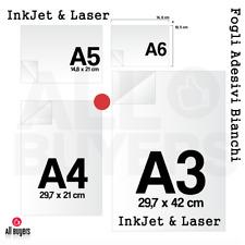Carta Adesiva Bianca uso mano stampa off-set per volantini - per ogni stampante