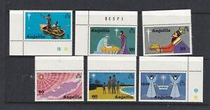 ANGUILLA 1974 Christmas Set MNH