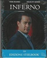 BLU RAY: INFERNO(TOM HANKS) EDIZIONE STEELBOOK (METAL BOX) NUOVO SIGILLATO