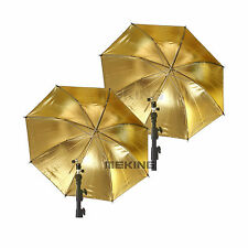 Photography Equipment 2* 84cm/33in Gold & Black Metal Frame Studio Umbrella
