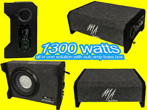 """10""""inch Active ported enclosures subwoofer box 1300w design to fit all car 2021!"""