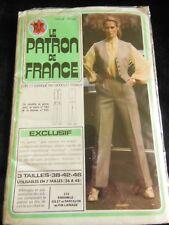 """PATRON vintage pantalon gilet année 80 taille  38 42 46 """"le patron de France"""""""