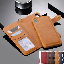 For iPhone 12 Pro Max 11 6s 7 8 Xr Removable Leather Wallet Card Slot Case Cover