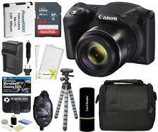 Canon PowerShot SX420 IS 20MP 42x Super Zoom Digital Camera -Black + 64GB Bundle