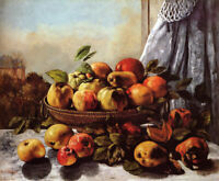 Gustave Courbet Still Life Fruit Fine Art Giclee Print Kitchen Decor Small 8x10