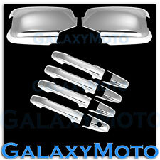 09-15 Honda Pilot Triple Chrome Mirror w/ Turn Signal cut+ 4 Door Handle Cover