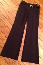 NWT Sinequanone 10 France $145 Navy Career Womens Pants Sleek Dressy Belt