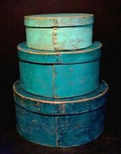 VINTAGE Antique PRIMITIVE SHAKER Turquoise PANTRY Box Sheet ADDRESS LABELS