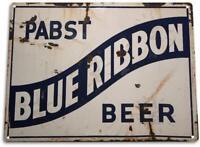 Pabst Blue Ribbon Beer Metal Art Store Pub Draft Brew Shop Bar Sign