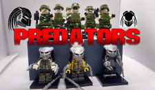 Brand New Set of 9 Custom Lego* Predators and Army Jungle Unit Soldiers