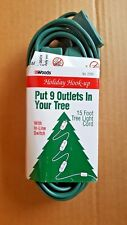 Woods 15 Foot Tree Light Cord 9 Outlets And Inline Switch