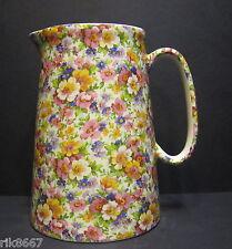 Heron Cross Pottery SUMMER MEADOW (pink B/G) 4 Pint Milk Jug very big (vase)