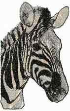 ZEBRA HEAD SET OF 2 HAND TOWEL EMBROIDERED RARE