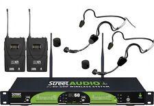 STREET AUDIO SU6061H DOPPIO RADIOMICROFONO AD ARCHETTO UHF SPORT SET
