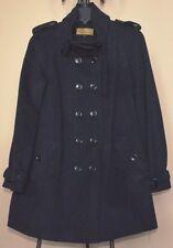 NICOLE MILLER A-Line Pea Coat Black Wool Blend Sz.6 NWT Super Chic WOW! $315