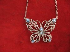 Sterling Silver Butterfly Choker Necklace