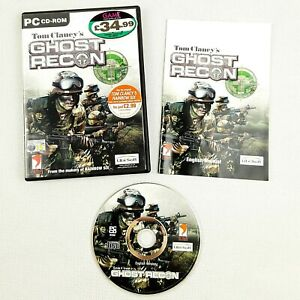 Tom Clancy's Ghost Recon PC 2001 PAL (CD VGC) Manual Included