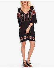 Denim & Supply Ralph Lauren Women Embroidered Gauze Dress Black M