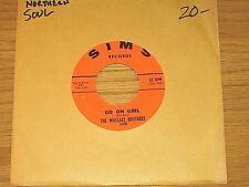 """NORTHERN SOUL 45 RPM - WALLACE BROTHERS - SIMS 220 - """"GO ON GIRL/ONE WAY AFFAIR"""""""